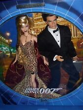 ♥ NRFB TOP Collector Edition James Bond 007 Barbie und Ken Set Geschenkset RAR