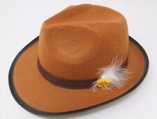 Ladies Octoberfest Oktoberfest German Beer Festival Stiffened Felt Brown Hat