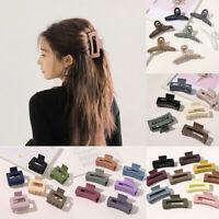 Marble Acrylic Hair Clip Hair Claw Crab Clamp Geometric Hairpin Makeup Barrette—