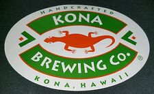 "NEW OVAL KONA BREWING CO  BEER STICKER  COLLECTOR DECAL 5 3/4"" x 4"" HAWAII GECKO"