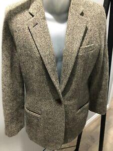 Ralph Lauren / Lauren Classic 100% wool Herringbone Tweed Jacket US 6 AU 12