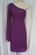 Sweet Pea By Stacy Frati Dress Sz S Purple Blue Cocktail Party Sheer Party Dress