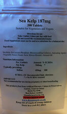 Sea Kelp 187mg 200 Tabletas-Free UK Post