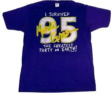 Vtg 1995 New Orleans Survived Mardi Gras Greatest Party On Earth Purple T-Shirt