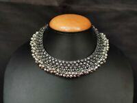 Indian Necklace Oxidized Choker Ghungroo Silver Jewelry Wedding Jewellery Boho