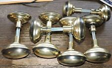 6 SETS ANTIQUE BRASS EGG HANDLE DOOR KNOBS PAIRS NEW MANUFACTURE OLD PATINA