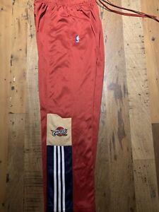 Cleveland Cavaliers NBA Adidas Tear Away On Court Pants Authentic Sz M Rare
