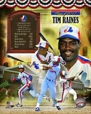 Tim Raines Montreal Expos Hall of Fame HOF Unsigned Photofile 8x10 Photo