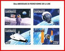 APOLLO 11 on MOON ANNIVERSARY SPACE/ ASTRONOMY S/S SC#939 MNH ** fr.GABON