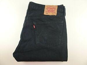 "VTG LEVIS 501 Mens Jeans Black Denim Straight Leg SIZE W38 L33 Waist 38"" Leg 33"""