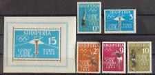 ALBANIA 1962 OLYMPICS, XF MNH** Set + Sheet, Olympiade Tokio Japan Torch