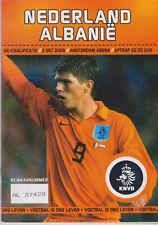Programme / Programma Holland v Albania 11-10-2006 UEFA EURO 2008 Qualifier