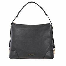 MICHAEL Michael Kors Crosby Black  Leather Large Shoulder Bag MSRP $ 298