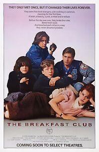 The Breakfast Club 1985 Retro Vintage Movie Poster A0-A1-A2-A3-A4-A5-A6-MAXI 227