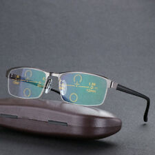 Photochromic Multi Focus Reading Glasses Transition Progressive Sunglasses