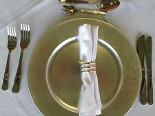 Gold Charger Plate Bridal WEDDING ACCESSORY DISCOUNTED!!!!