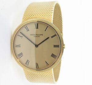 Vintage Patek Philippe Calatrava 18ct Gold 36J Auto Mens Wrist Watch Ref 3588-1