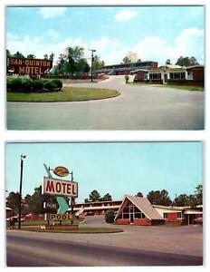 2 Postcards DALTON, Georgia GA ~ Roadside SAN QUINTON MOTEL c1960s-70s