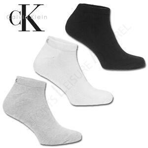 CALVIN KLEIN Socks Mens 3 Pair Pack Trainer Liner Ankle Cotton UK 7 8 9 10 11