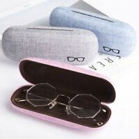Portable Hard Linen Eye Glasses Protector Case Eyewear Sunglasse Storage Box WDS