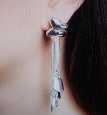 Damen Ohrringe Ohrstecker Schmetterling  - Fb Silber - plattiert 0468