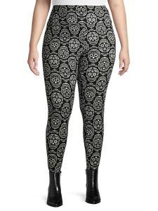 Terra & Sky Women's Super Soft Plus Size Full Length Legging Halloween Christmas