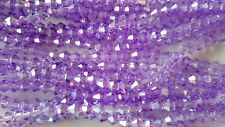 Joblot 10 Strings (1200 Beads) 4mm Lilac AB Bicone Crystal Beads