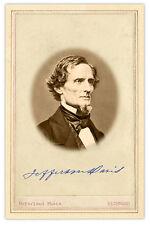 CIVIL WAR PHOTOGRAPH Jefferson Davis Photo & Signature CARD VINTAGE A++ Reprint