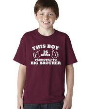 This Boy Is Being Promoted To Big Brother Kids/Youth Unisex T-Shirt (Y104)