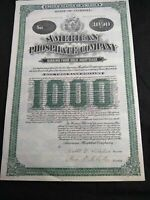 1905 American Phosphate Co., Fl., $1000 Mortgage Certificate W/ Coupons