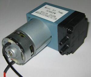12 V DC Single Diaphragm Head Pressure / Vacuum Pump - 10 L/min - 29 PSI max