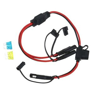1 to 2 SAE Connector Power Charger Adapter Cable for Solar Panel Motorcycle ATV