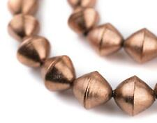 Copper Mali Bicone Beads 15mm African Large Hole 24 Inch Strand Handmade