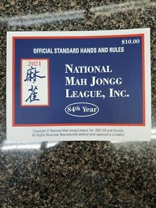 2021 National Mah Jongg League Official Standard Hands & Rules Cards .* large *