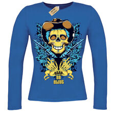 Dead or alive T-Shirt cowboy skeleton skull ladies long sleeve