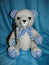 Christening Bear for signature/autograph Keepsake Boy