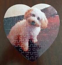PERSONALIZED JIGSAW PUZZLE CRAFTS DOGS CHILDREN CHRISTENING WEDDING ISOLATING