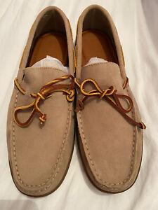 Polo Ralph Lauren Kalworth Shoe Milkshake Beige Loafers UK8 New With Box