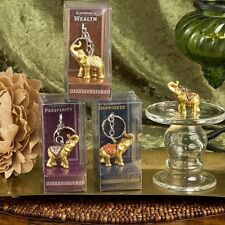 120 Gold Good Luck Elephant Key Chain Wedding Bridal Shower Party Favors