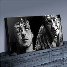 ROCKY BALBOA & MICKY NEVER GIVE IN - INSPIRING ICONIC CANVAS POPART Art Williams