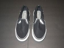 e92e22a8aa Joe Boxer Boy s Canvas Casual Shoes Slip on - Black youth Size 2 NWoT