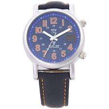 RCW Solar Herren Funk Armbanduhr ONE - Weltempfänger - Blau Orange