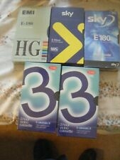 5 VHS blank video tapes - ***NEW SEALED***