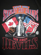 Starter 1995 NEW JERSEY DEVILS Stanley Cup Champions (LG) T-Shirt