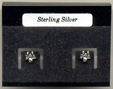 Tiny Spider Sterling Silver 925 Studs Earrings Carded