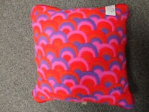 Vintage Nettle Creek Throw Pillow - Hot Pink & Purple - New Old Stock with Tags