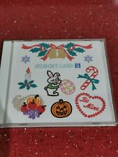 Janome Memory Craft memory Card 5 Embroidery designs holiday series Xmas easter