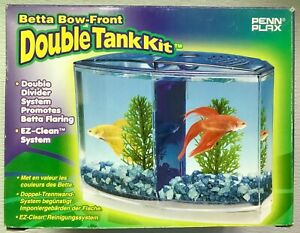 Penn Play® Betta Bow-Front Two Compartment Tank Kit, New in Open Box, Other
