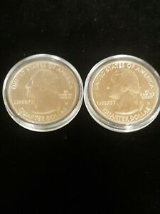 2019 & 2020 WEST POINT MINT State Quarter's!! In BU Condition! ID & CONN States!