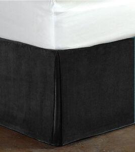"Fascination- Classy100% Cotton Velvet Bedskirt/Valance 15""Drop-QUEEN Size"